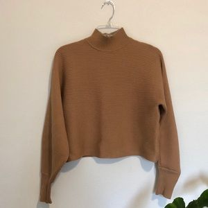 Tan Zara turtleneck sweater size S